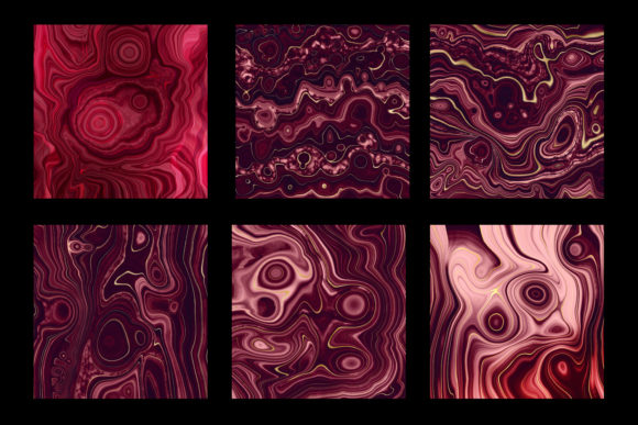 Print on Demand: Strata Garnet Red Agate Textures Graphic Textures By Digital Curio - Image 7