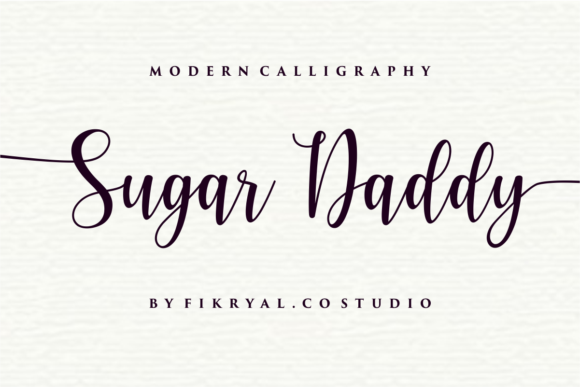 Print on Demand: Sugar Daddy Script & Handwritten Font By mfikryalif