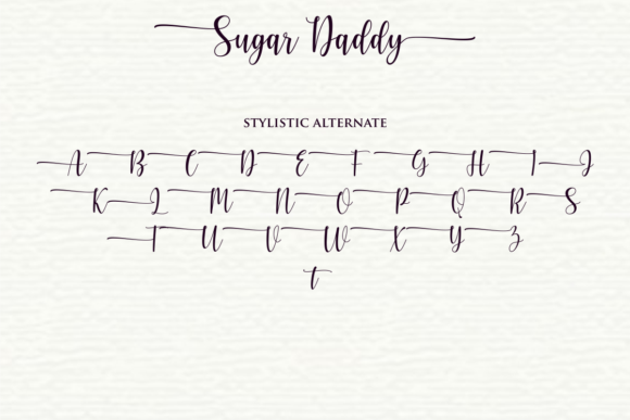 Sugar Daddy Font Design Item