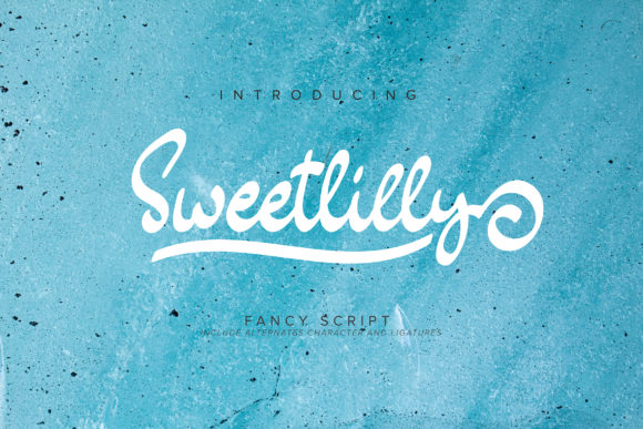 Print on Demand: Sweetlilly Script & Handwritten Font By Vunira