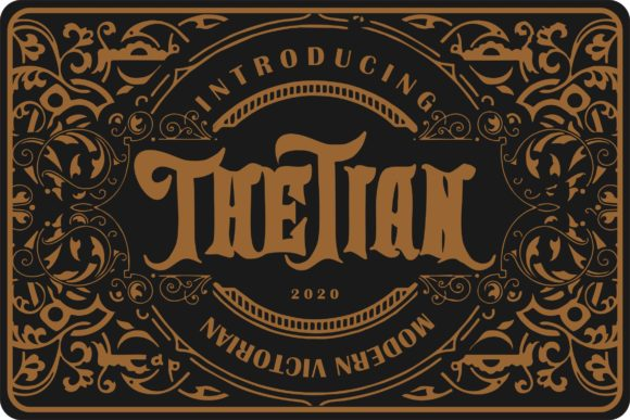 Print on Demand: Thetian Blackletter Font By Vunira