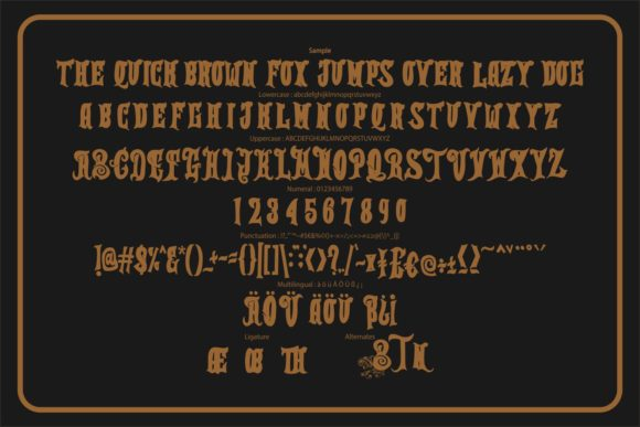 Print on Demand: Thetian Blackletter Font By Vunira - Image 6