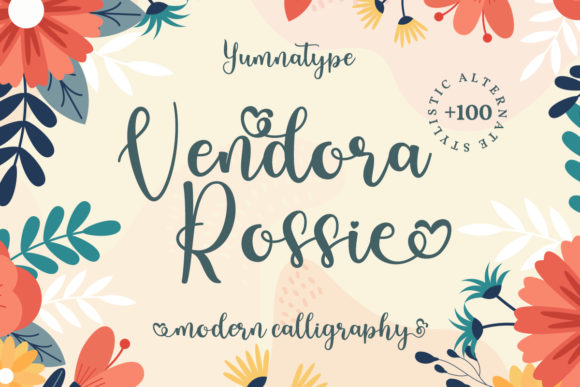 Print on Demand: Vendora Rossie Script & Handwritten Font By Yumna_Type