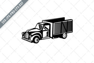 Print on Demand: Vintage American Pickup Truck Graphic Illustrations By patrimonio