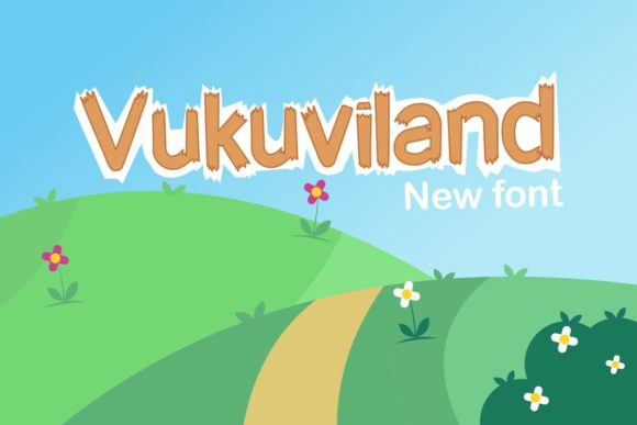 Print on Demand: Vukuviland Display Font By Pidco.art