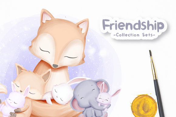 Friendship Collection Sets Vol.1 Gráfico Ilustraciones Por alolieli