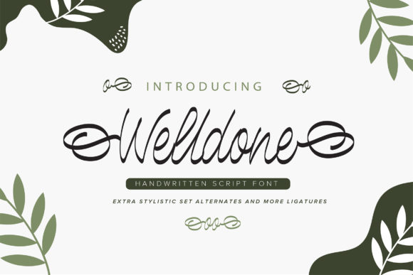Print on Demand: Welldone Script & Handwritten Font By Vunira