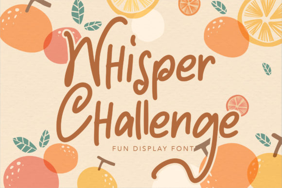 Print on Demand: Whisper Challenge Script & Handwritten Font By Vunira
