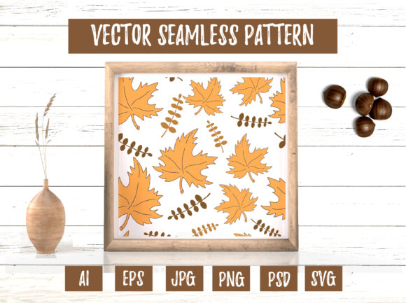 Yellow Maple Leaves Seamless Pattern Graphic Illustrations By cyrilliclettering