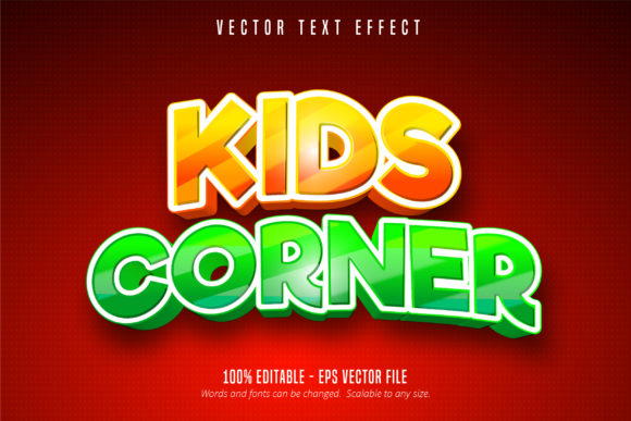 Print on Demand: Kids Style Editable Text Effect Graphic Graphic Templates By Mustafa Bekşen
