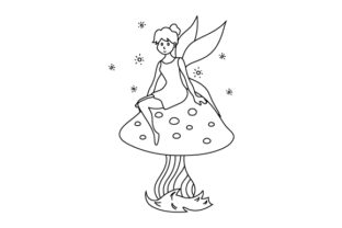 Fairy Coloring Page Fairy tales Craft Cut File By Creative Fabrica Crafts