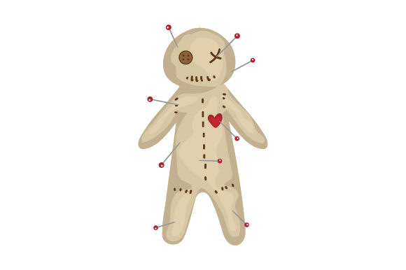 Voodoo Doll Designs & Drawings Craft Cut File By Creative Fabrica Crafts - Image 1