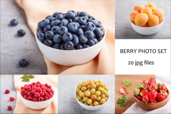 A Bundle of 20 Berry Photos Graphic Food & Drinks By Uladzimir Zgurski Photos