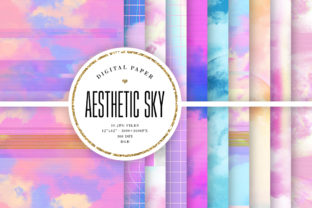 Print on Demand: Aesthetic Sky Backgrounds Graphic Backgrounds By Sabina Leja