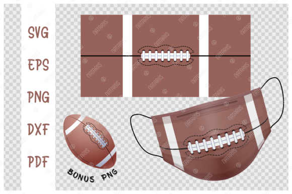 American Football Ball Background Graphic Crafts By Natariis Studio