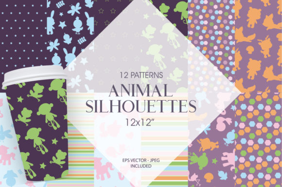 Print on Demand: Animal Silhouette Graphic Patterns By Prettygrafik