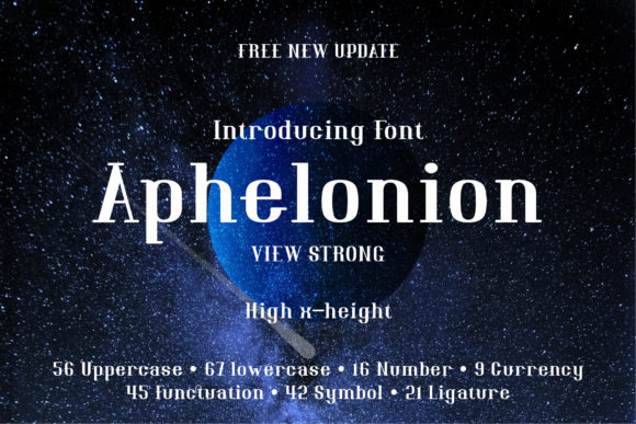 Print on Demand: Aphelonion Serif Font By emanesdsign