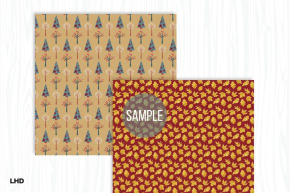 Autumn Gold Digital Papers Graphic Patterns By LeskaHamatyDesign - Image 3