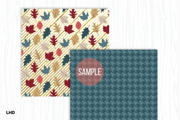 Autumn Gold Digital Papers Graphic Patterns By LeskaHamatyDesign - Image 4