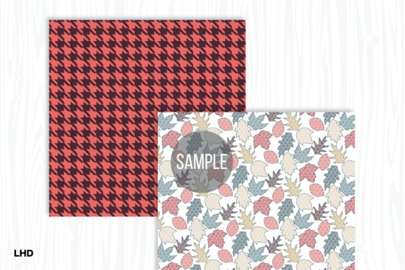 Autumn Gold Digital Papers Graphic Patterns By LeskaHamatyDesign - Image 5