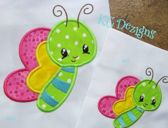 Baby Bug Butterfly Bugs & Insects Embroidery Design By karen50