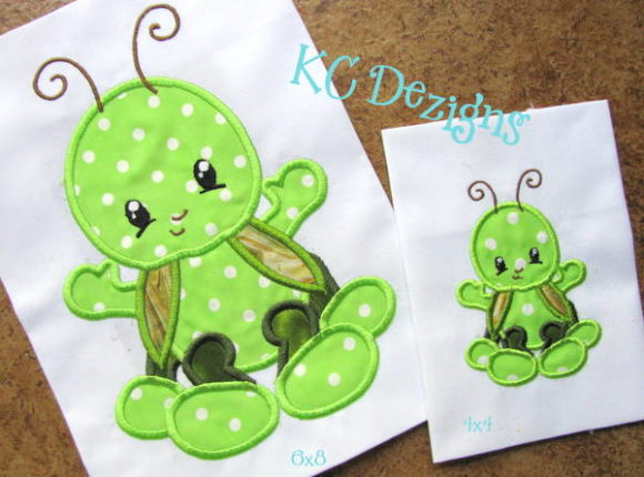 Baby Bug Grasshopper Embroidery