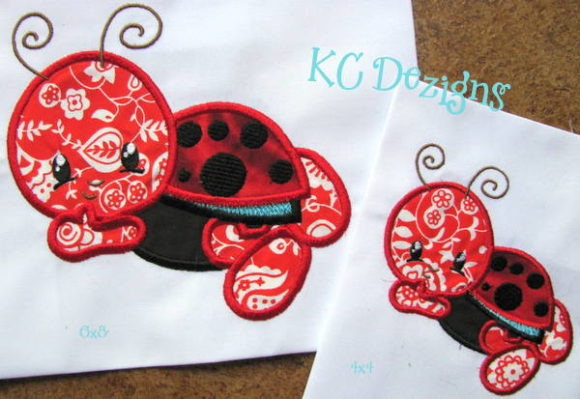 Baby Bug Ladybug Bugs & Insects Embroidery Design By karen50