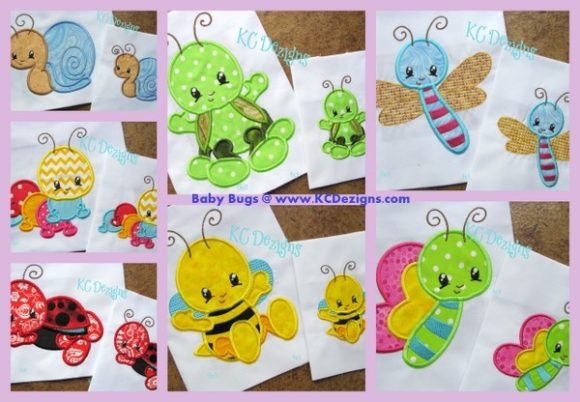 Baby Bugs Full Set Bugs & Insects Embroidery Design By karen50