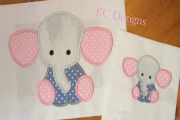 Baby Elephant Sitting Baby Animals Embroidery Design By karen50 - Image 1