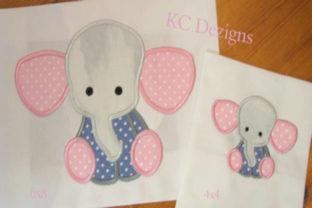 Baby Elephant Sitting Baby Animals Embroidery Design By karen50