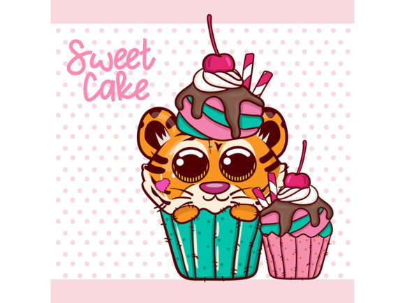 Baby Shower with Cute Cartoon Tiger Boy Graphic Illustrations By maniacvector