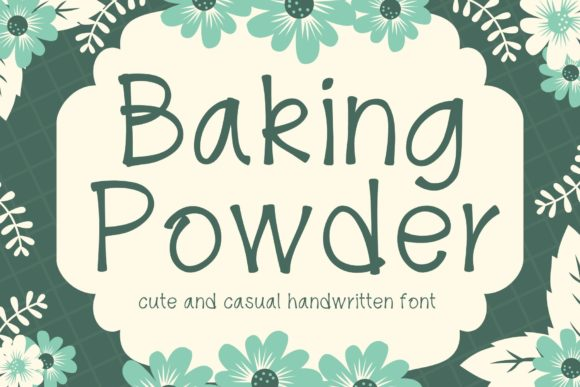 Print on Demand: Baking Powder Script & Handwritten Font By AllaCreativa