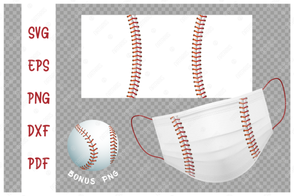 Baseball Ball Background for Face Mask Graphic Crafts By Natariis Studio
