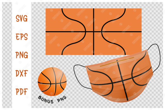 Basketball Ball Background for Face Mask Graphic