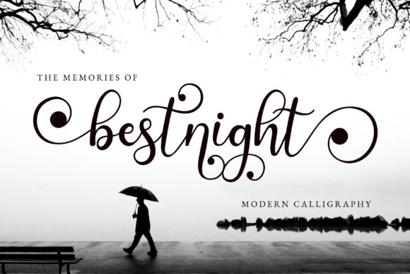 Print on Demand: Bestnight Script & Handwritten Font By airotype