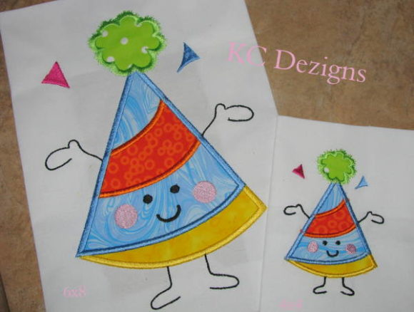 Birthday Hat Character Boys & Girls Embroidery Design By karen50