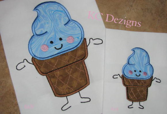 Birthday Ice Cream Character Boys & Girls Embroidery Design By karen50