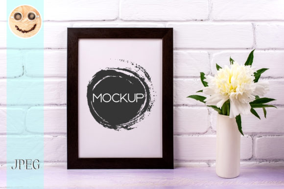 Print on Demand: Black Brown  Poster Frame Mockup Graphic Product Mockups By TasiPas