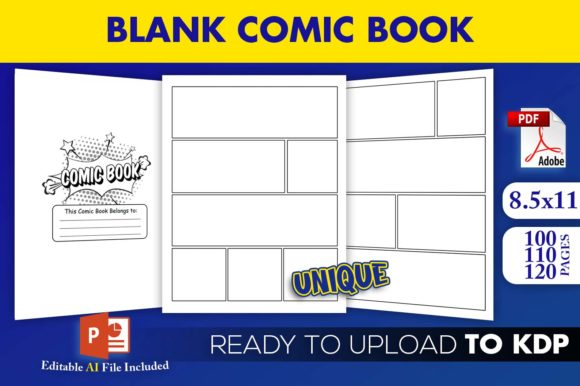 Print on Demand: Blank Comic Book KDP Interior Ready File Graphic KDP Interiors By Beast Designer
