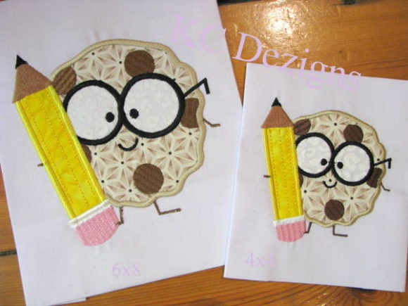 Boy Cookie with Pencil Embroidery