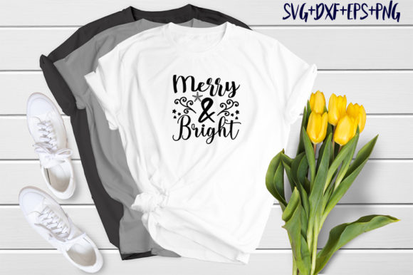 Print on Demand: Christmas Quotes: Merry & Bright Graphic Print Templates By SVG_Huge