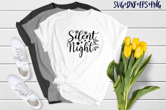 Print on Demand: Christmas Quotes: Silent Night Graphic Print Templates By SVG_Huge