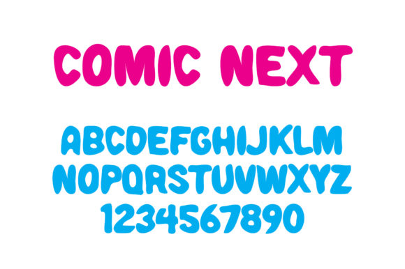 Print on Demand: Comic Next Display Font By Vladimir Carrer