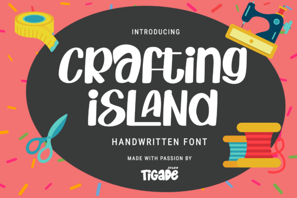Print on Demand: Crafting Island Display Schriftarten von Tigade std