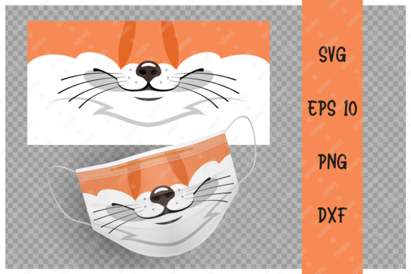 Cute Fox Animal Mouth for Face Mask  Gráfico Crafts Por Natariis Studio