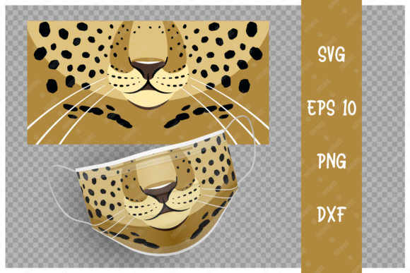 Cute Leopard Animal Mouth for Face Mask Graphic