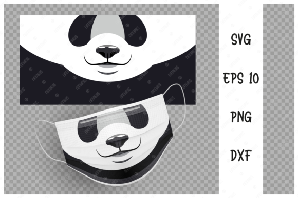 Cute Panda Animal Mouth for Face Mask  Graphic Crafts By Natariis Studio