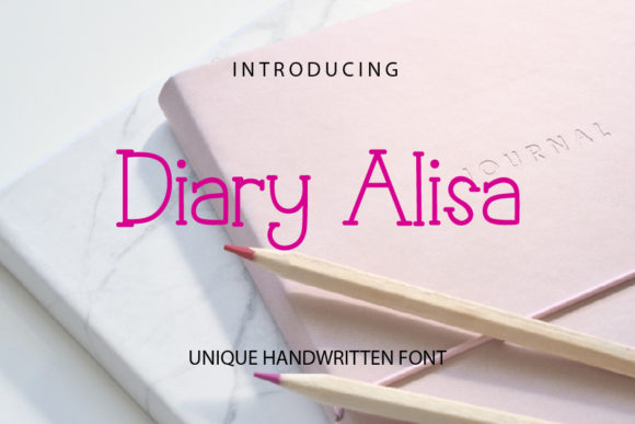 Print on Demand: Diary Alisa Serif Font By mizanstudio