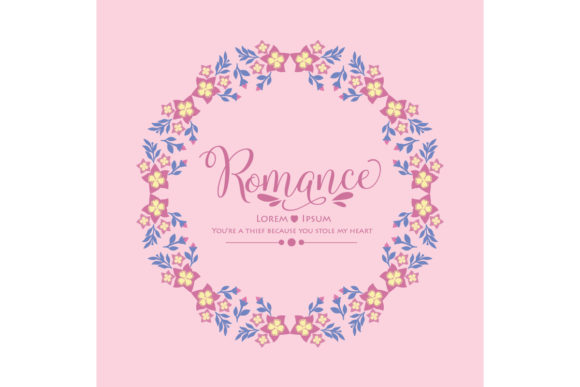 Elegant Romance Poster Decor Pattern Graphic Backgrounds By stockfloral
