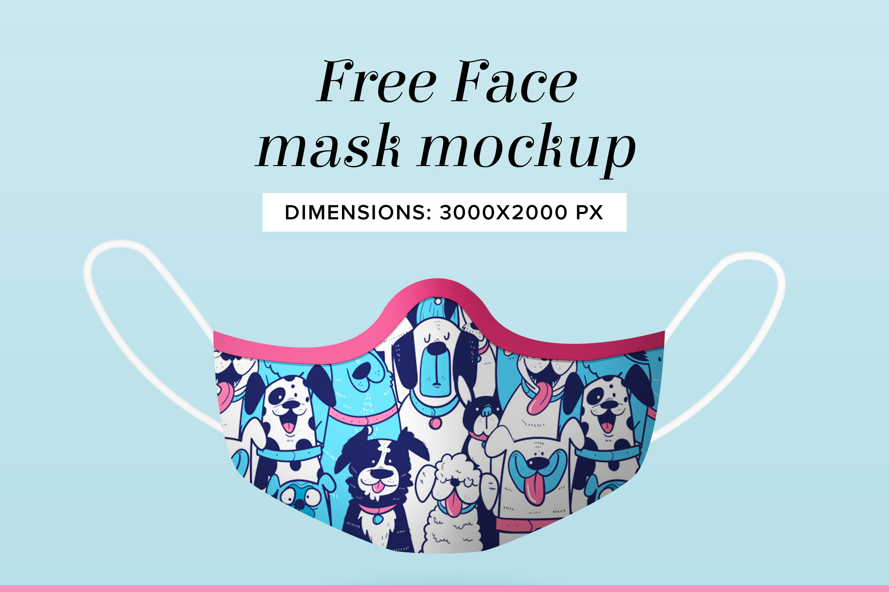 Download Free Face Mask Photoshop Png PSD Mockup Template